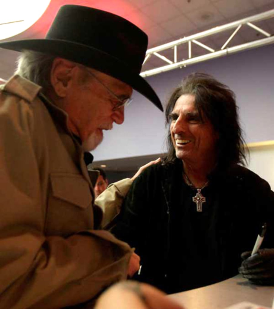 Duane Eddy and Alice Cooper