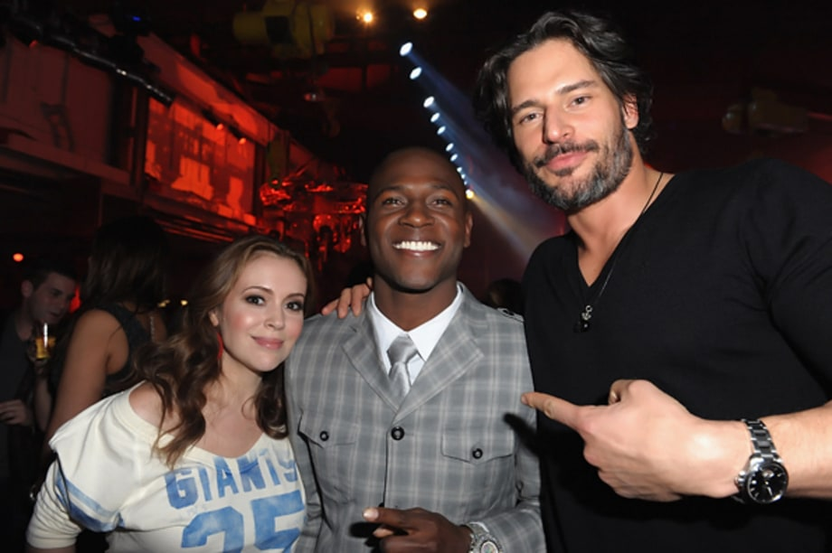 Alyssa Milano Antonio Brown And Joe Manganiello Rolling