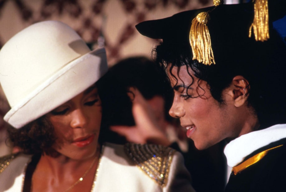 Whitney Houston and Michael Jackson 1988