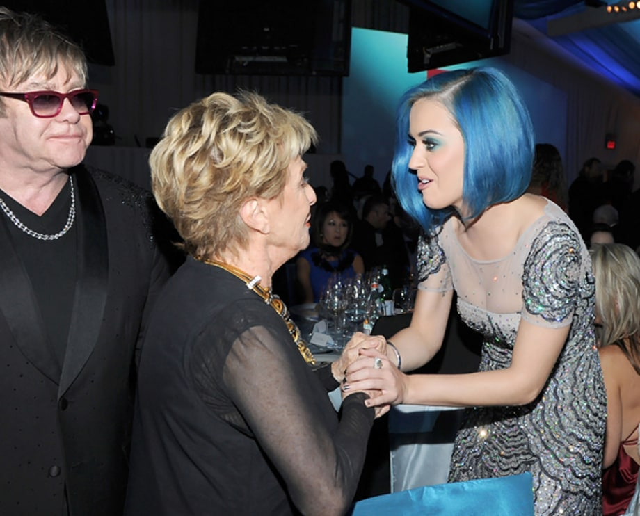 Elton John, Cloris Leachman and Katy Perry