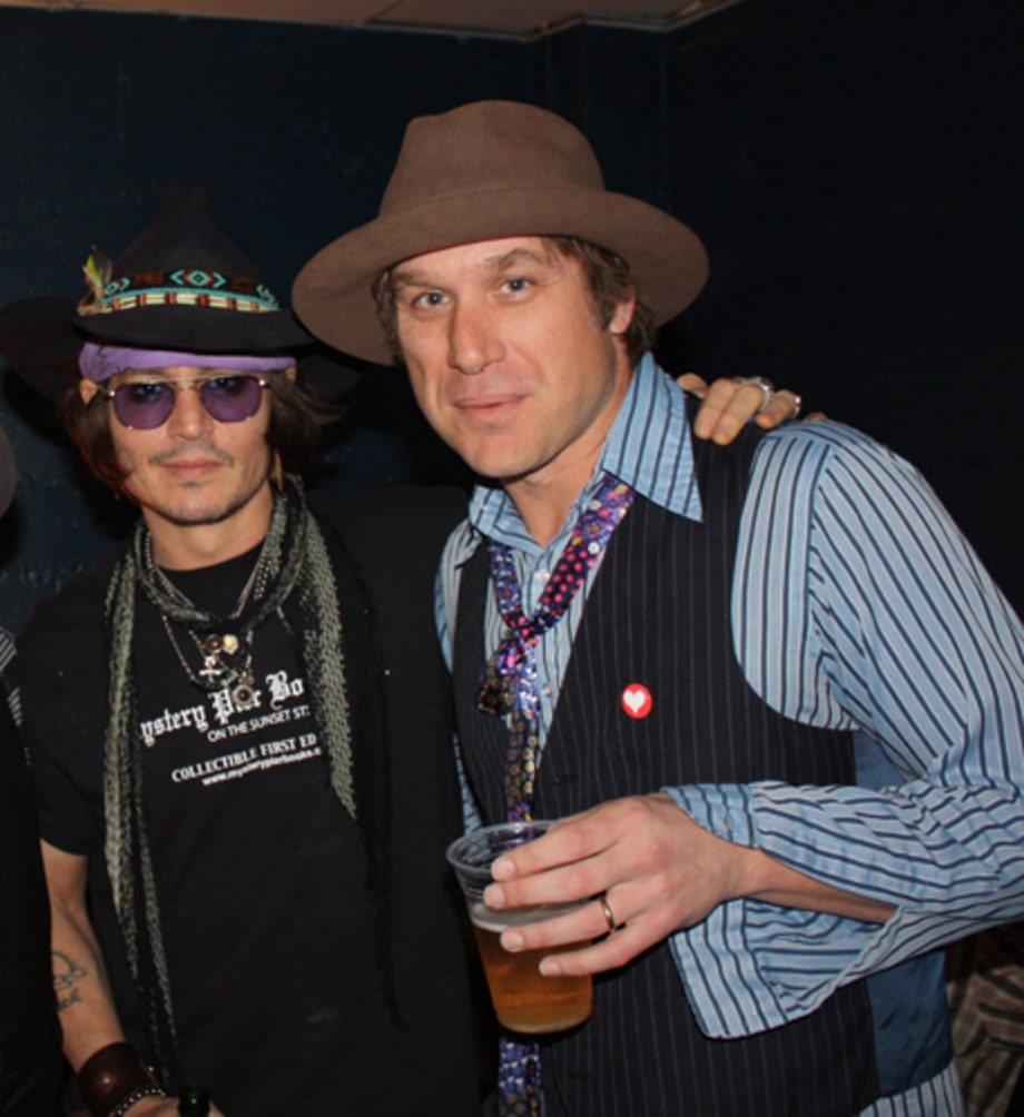 Backstage with Johnny Depp and Todd Snider