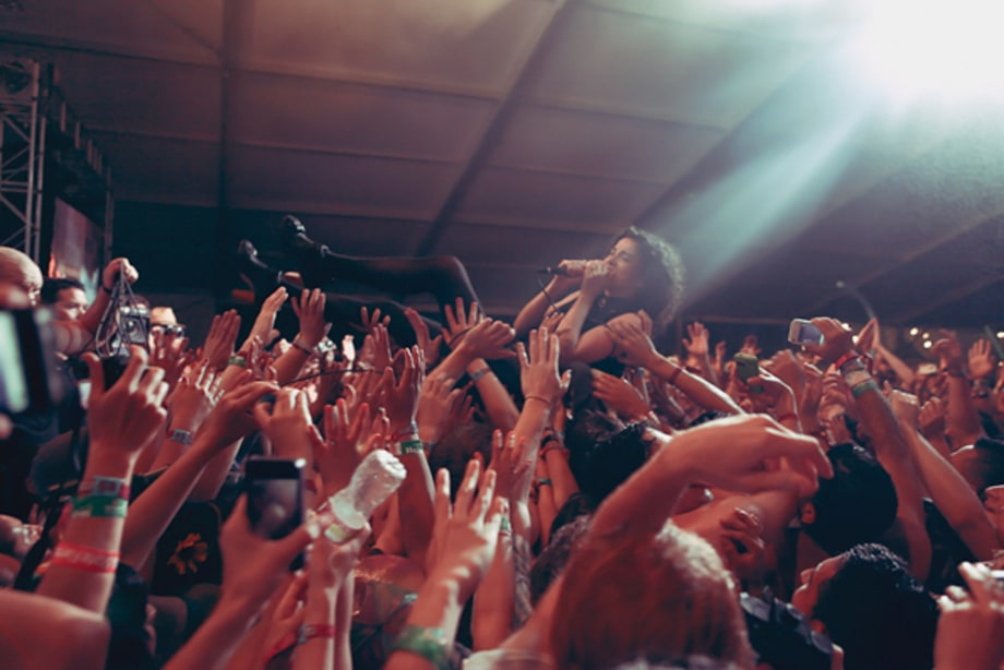 St. Vincent Crowd Surfs
