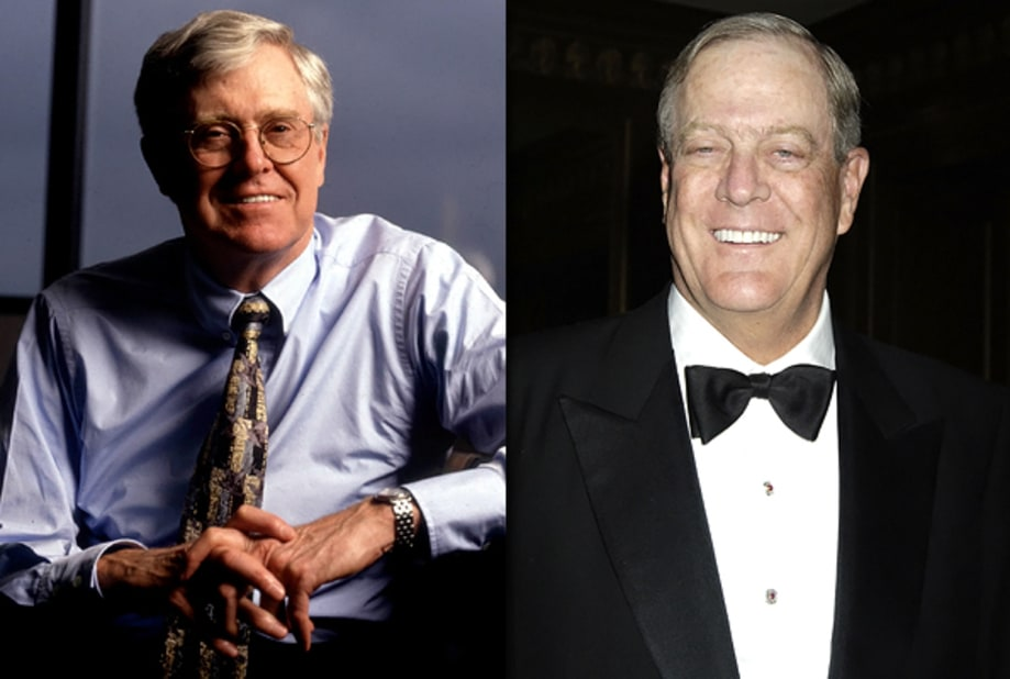 Charles and david koch power players of election 2012 for Charles und david koch