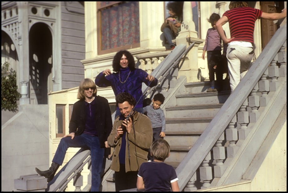 1966: On the steps at 710