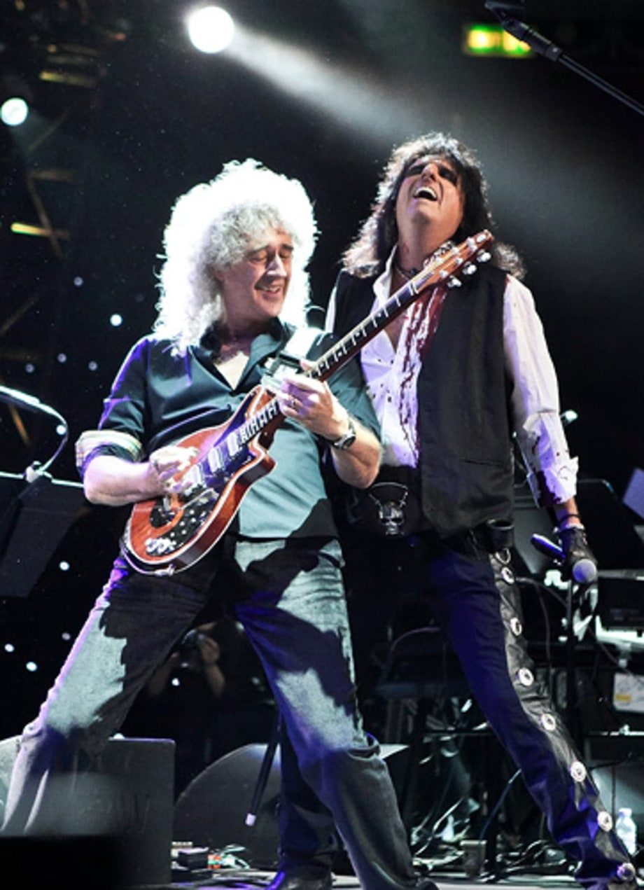 Brian May and Alice Cooper