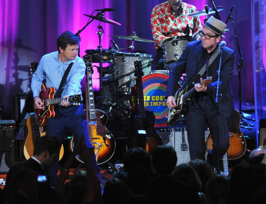Michael J. Fox and Elvis Costello play to cure Parkinson's