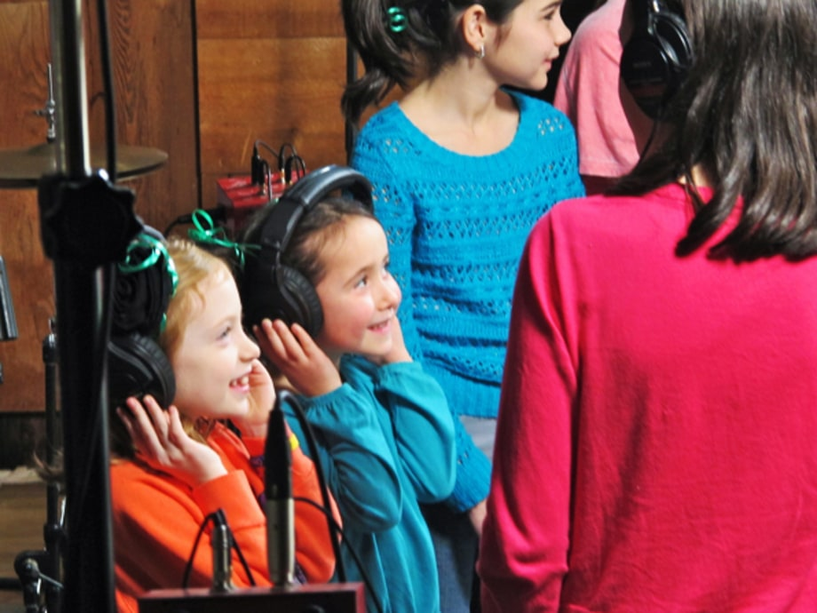 Children of Sandy Hook in the Studio