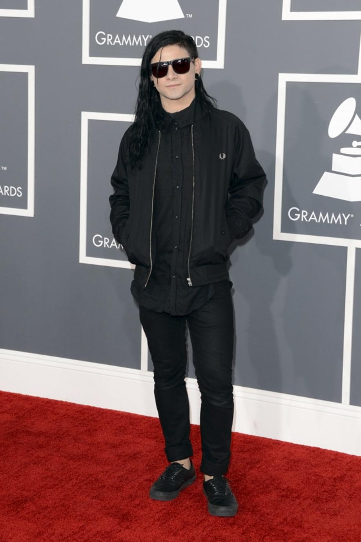 Skrillex Grammy Awards Red Carpet 2013 Rolling Stone