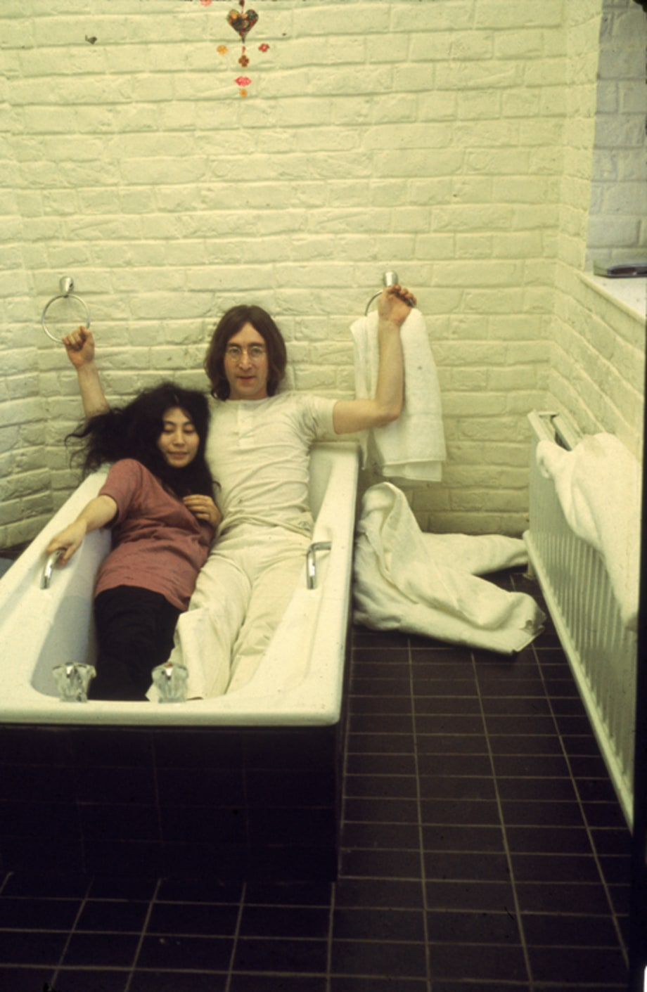 John and Yoko in a Tub