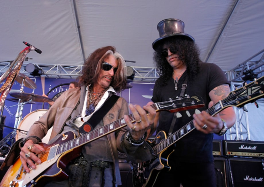 Joe Perry and Slash