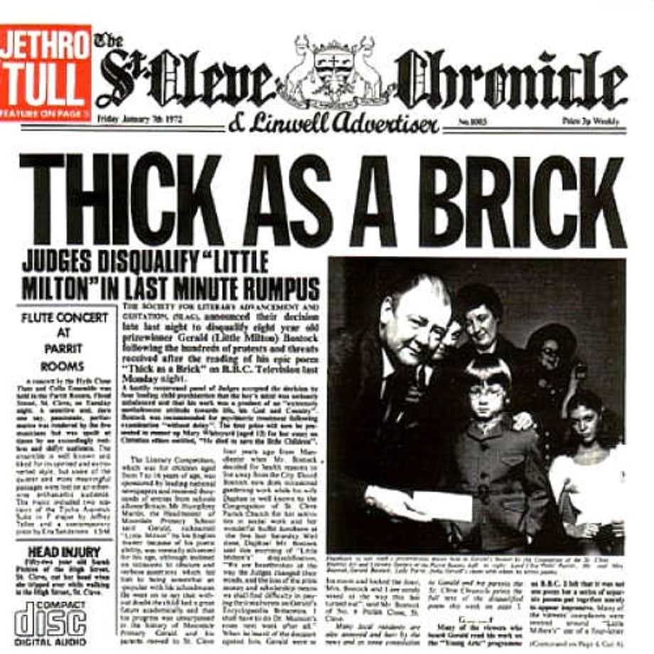 8. Jethro Tull, 'Thick As a Brick'