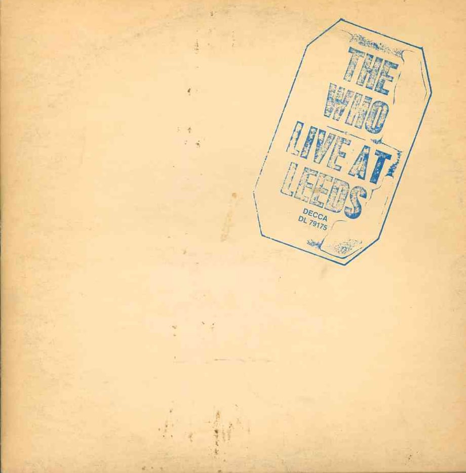 9. The Who – 'Live at Leeds'