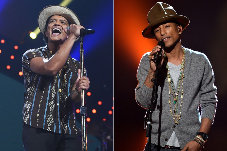 Bruno Mars and Pharrell Williams