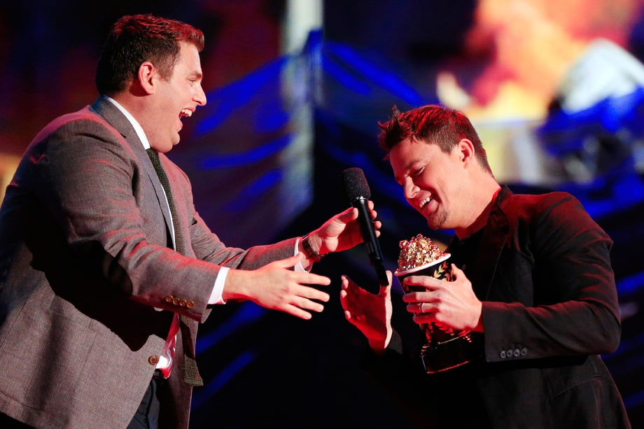 BEST: Jonah Hill Hijacking Channing Tatum's 'Trailblazer' Award