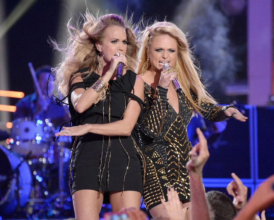 Best Use of Wind Machines (And Believable Hair Extensions): Carrie Underwood and Miranda Lambert