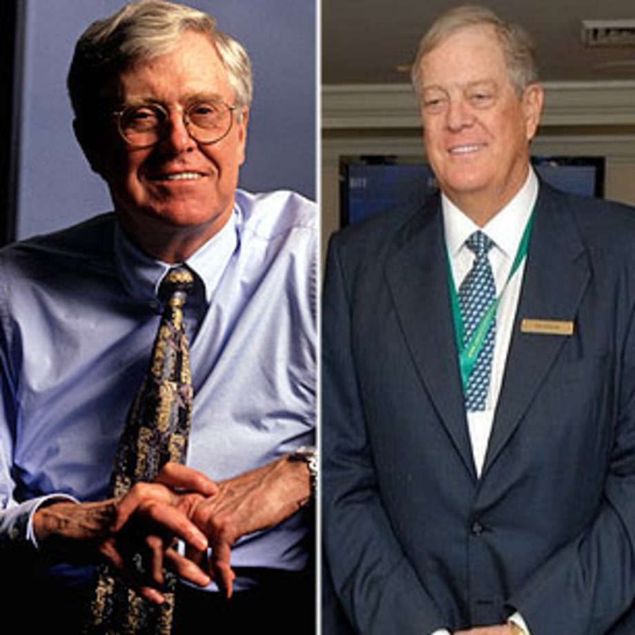 Charles and david koch ceo and executive vp koch for Charles und david koch