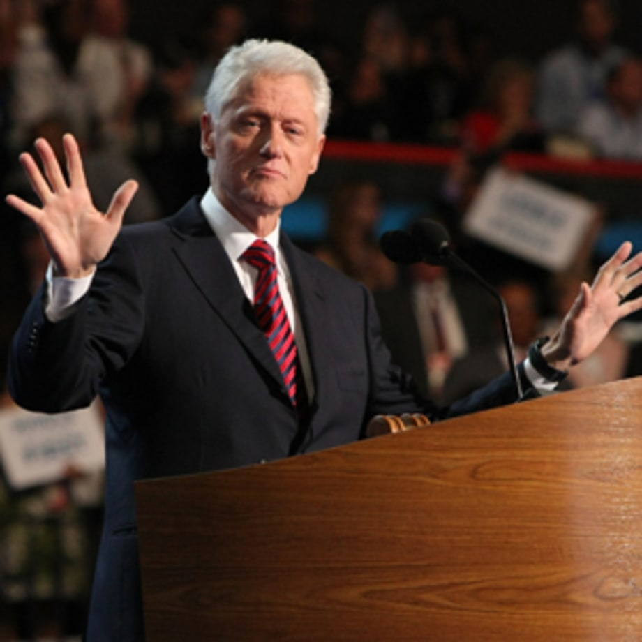 Bill Clinton delivers the Full Bubba