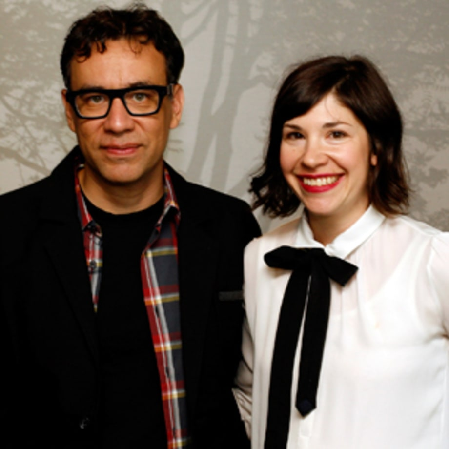 Carrie Brownstein and Fred Armisen
