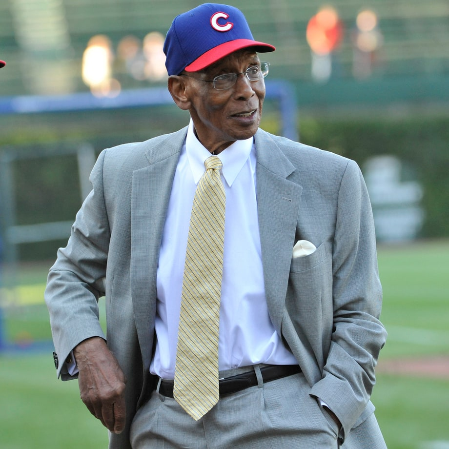Ernie Banks (Chicago Cubs Shortstop) and Richard Dent (Chicago Bears End)