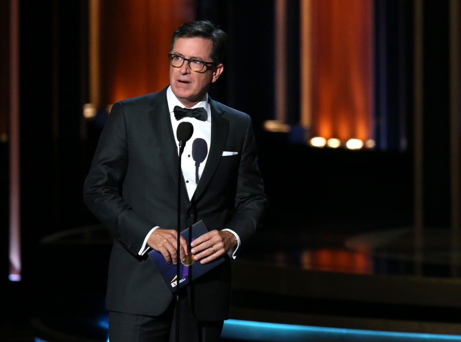 WORST: Stephen Colbert and 'Roscoe'