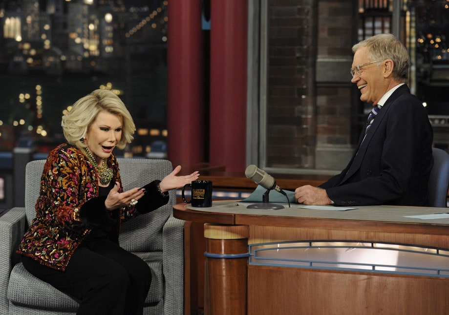Joan Rivers on the 'Late Show with David Letterman'