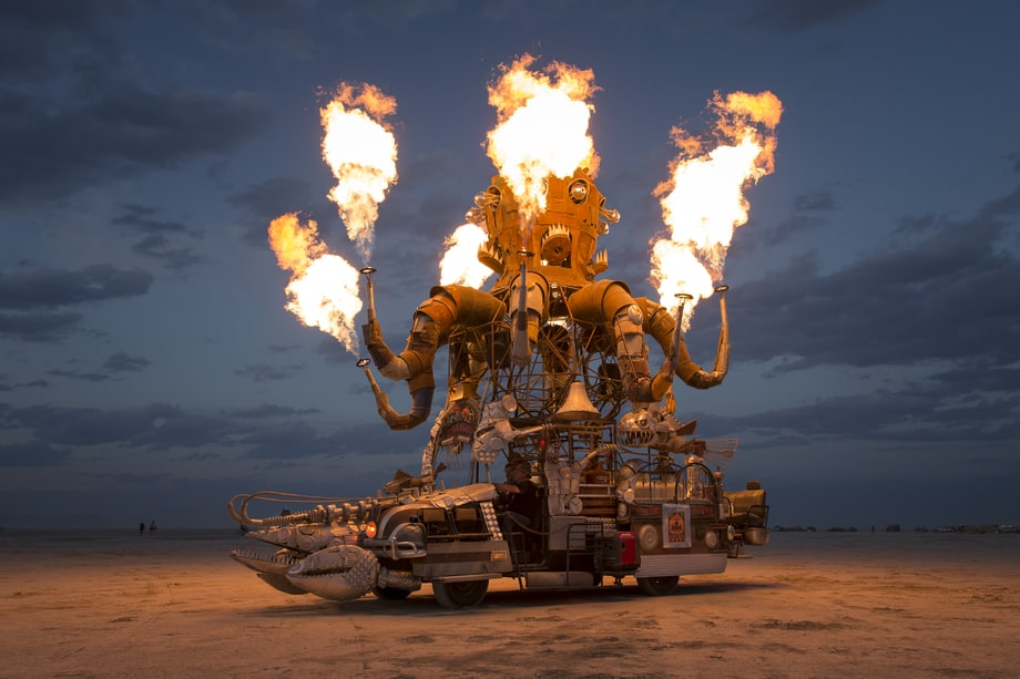 Burning Octopus Burning Man 2014 S Trippiest Photos