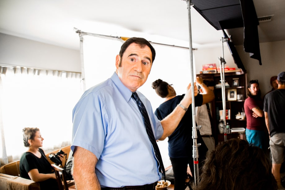 Richard Kind, between 'Red Oaks' takes