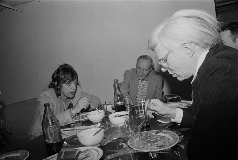 William S. Burroughs (with Mick Jagger and Andy Warhol)