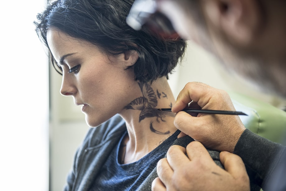 Tattoo You: Our Exclusive Behind-the-Scenes 'Blindspot' Gallery