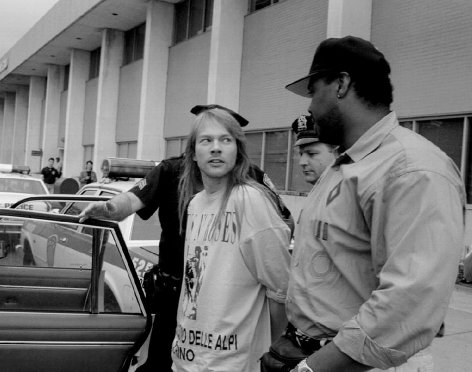 February 10th 1998 Axl Rose Arrested After Allegedly