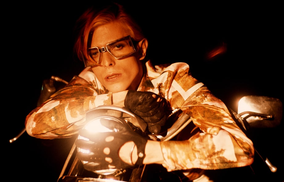 Bowie on Motorcycle