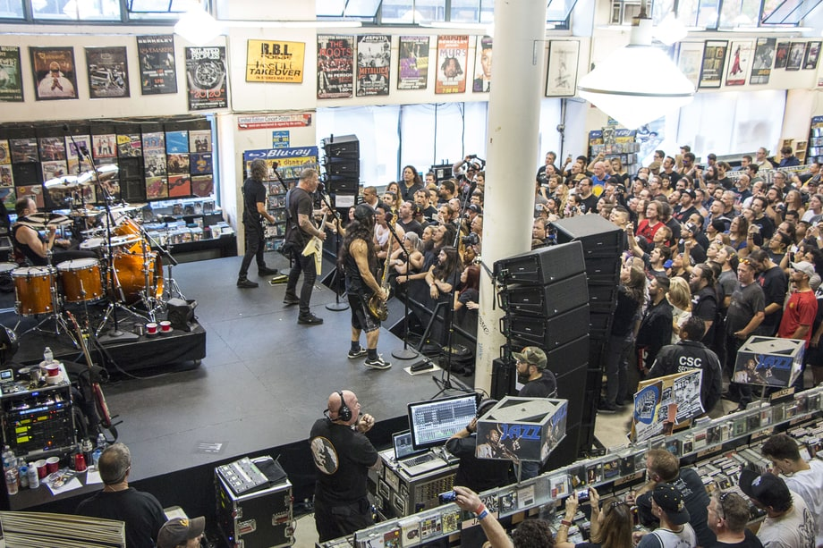 metallica at rasputin music record store day 2016 see photos of metallica mumford sons and. Black Bedroom Furniture Sets. Home Design Ideas