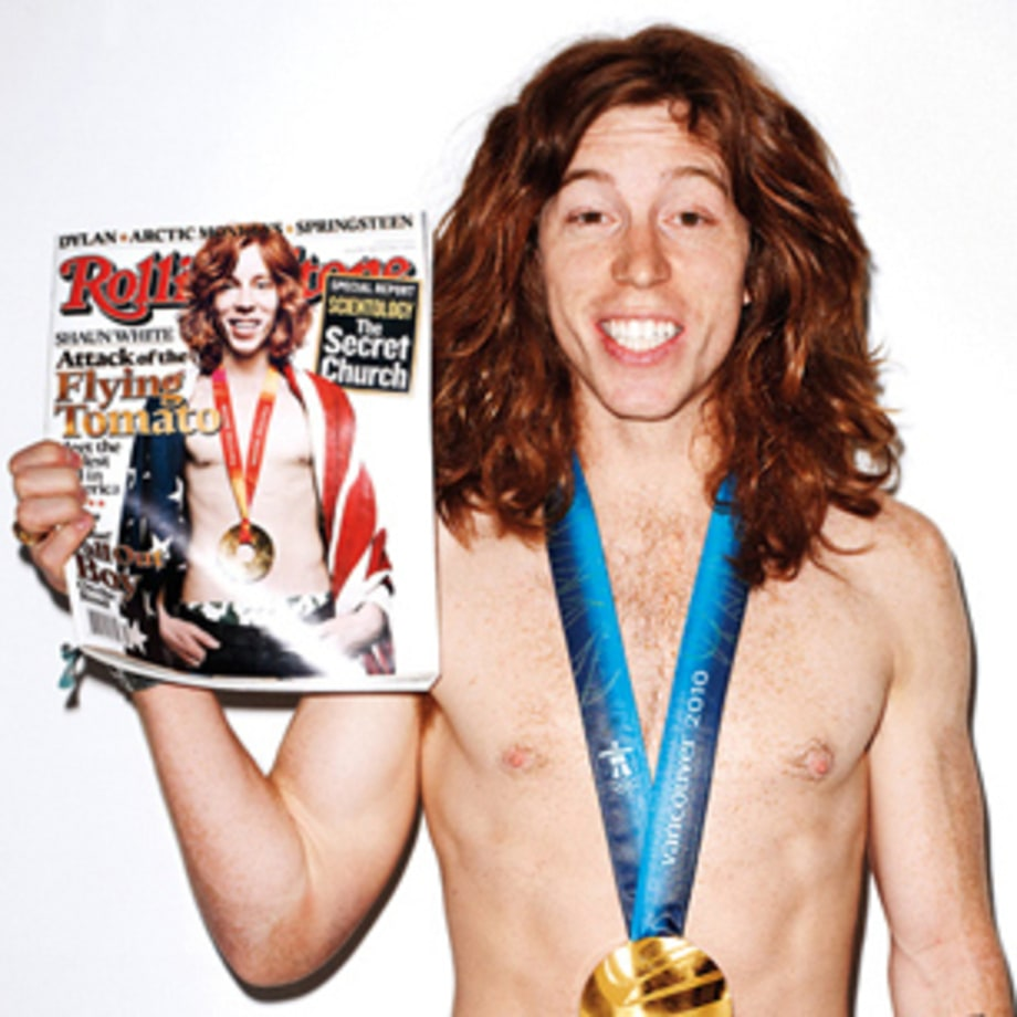 Shaun White's Fiery Rolling Stone Cover Shoot