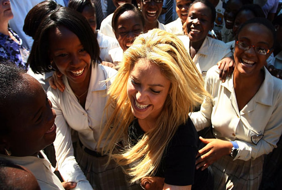 Photos: Shakira Visits Haiti for School Opening