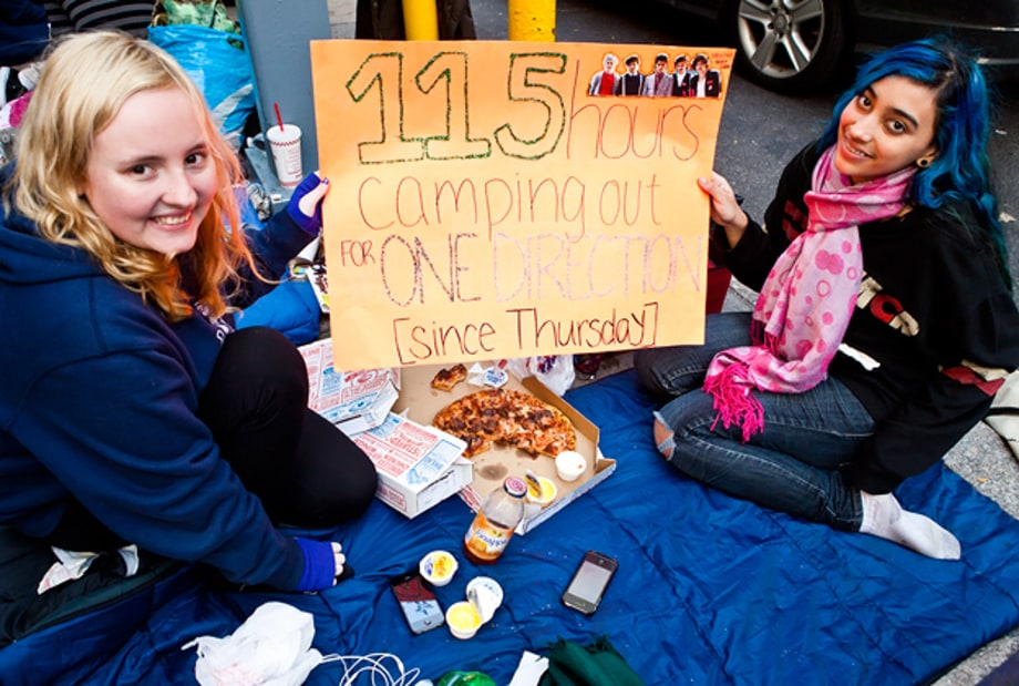 One Direction Fans Camp Out in New York