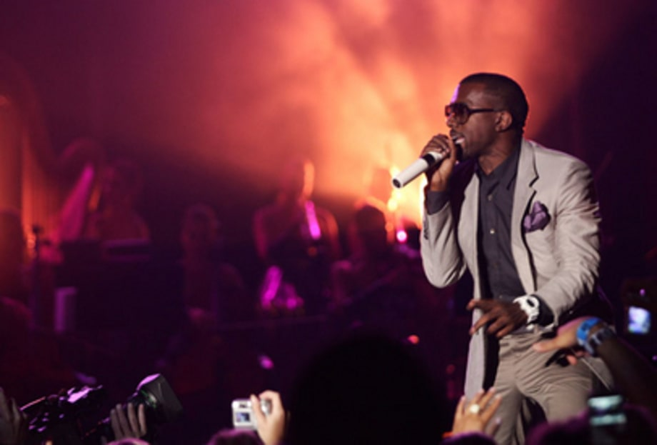Rolling Stone 40th Anniversary Party: Kanye performs