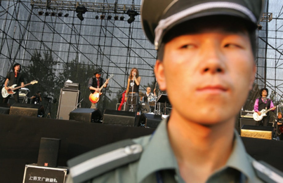 Beijing Pop Festival: NY DOlls and guard