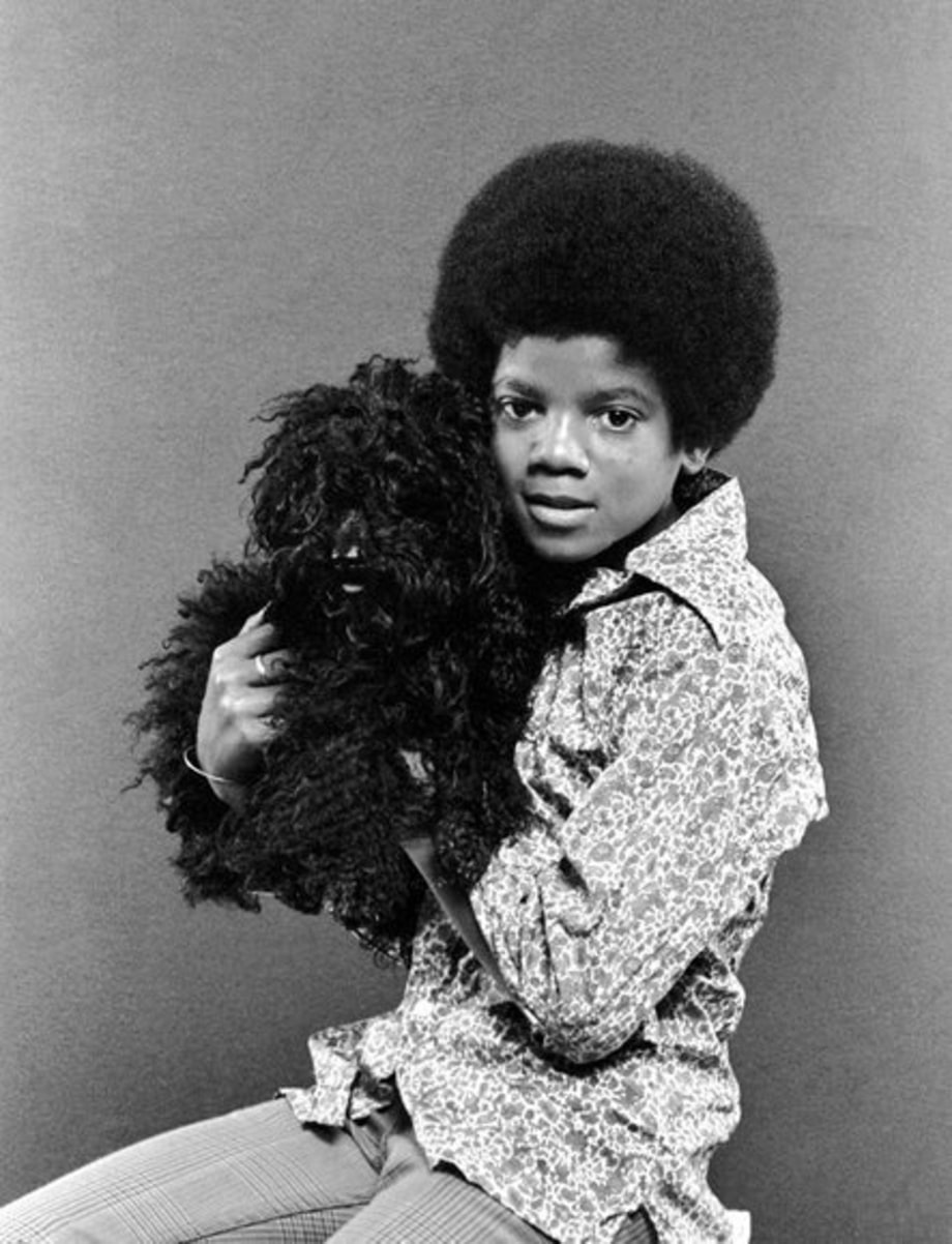 Michael Jackson 50th Birthday: 1971 - with a dog