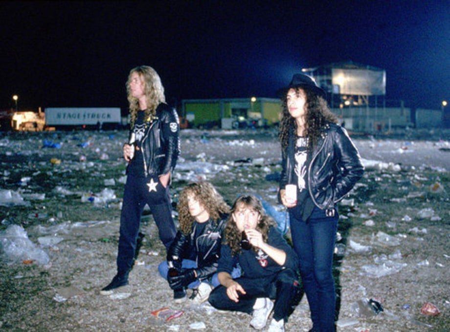 1990s backstage metallica three decades of metal