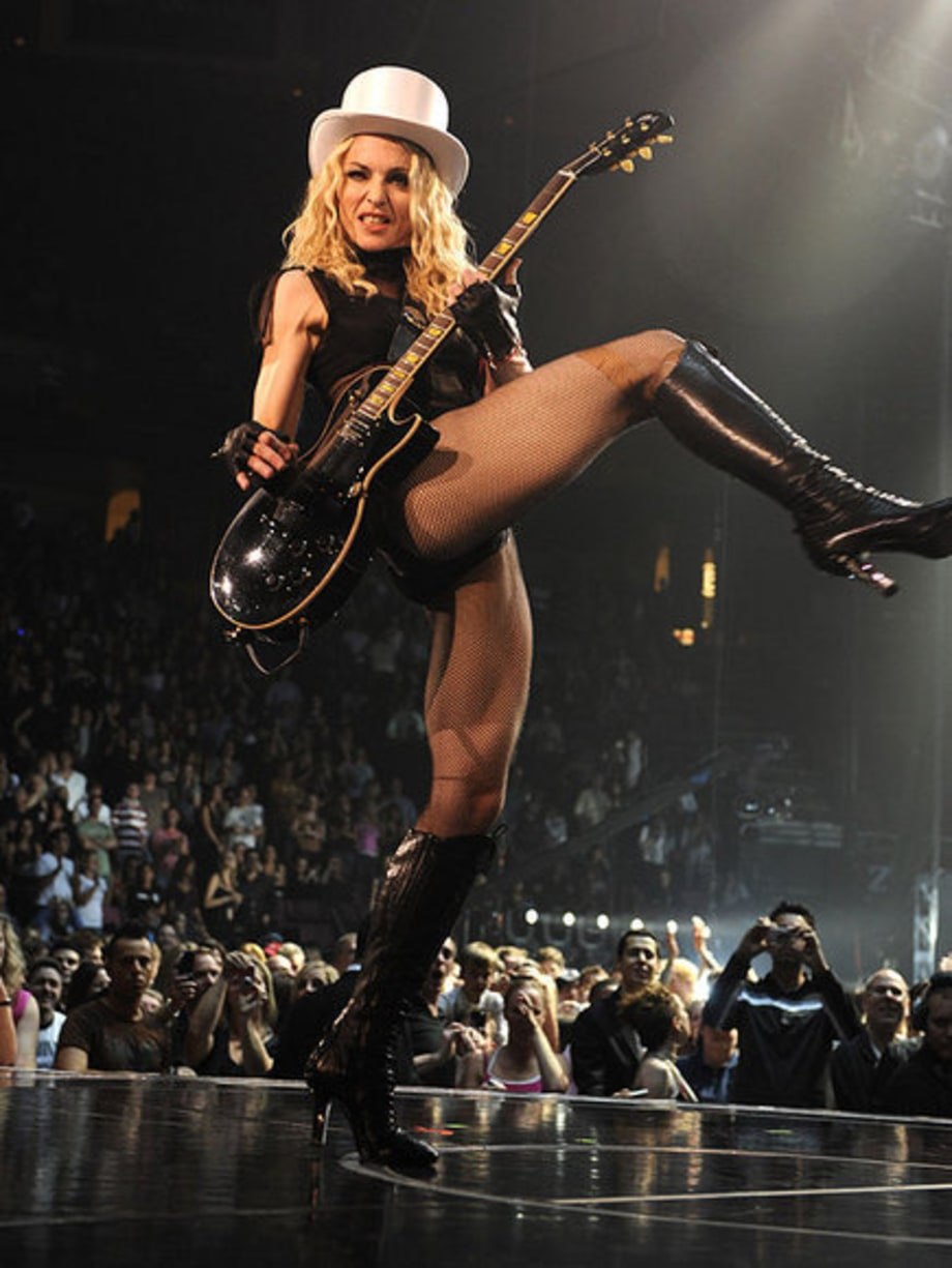 Madonna Sticky and Sweet Tour: Madonna Doing a High Kick