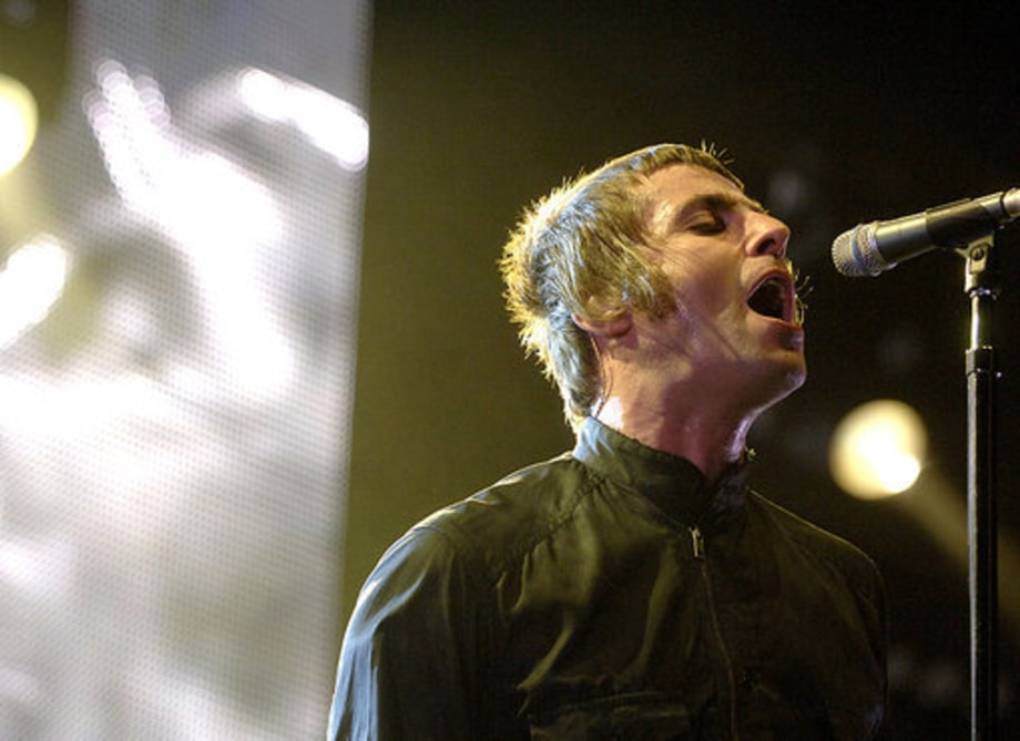 Oasis Tour Opener: Liam Gallagher Performing