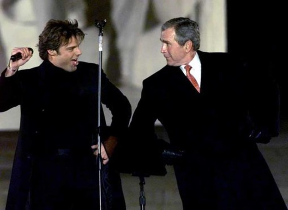BUSH MOMENTS: January 18th, 2001: Bush Dances with Ricky Martin