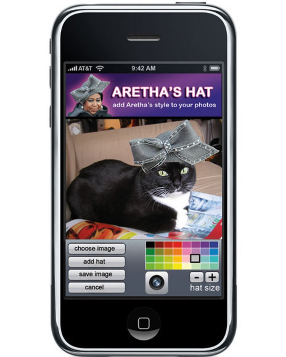 Iphone Applications: Aretha's Hats