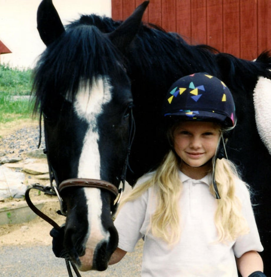 Taylor Swift Childhood: 10 Years Old: Taylor Swift With Pony
