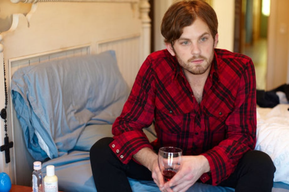Caleb Followill Drinking Wine in Bed