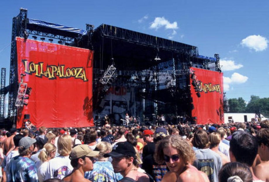 History of Lollapalooza: atmosphere shot at lollapalooza 1996