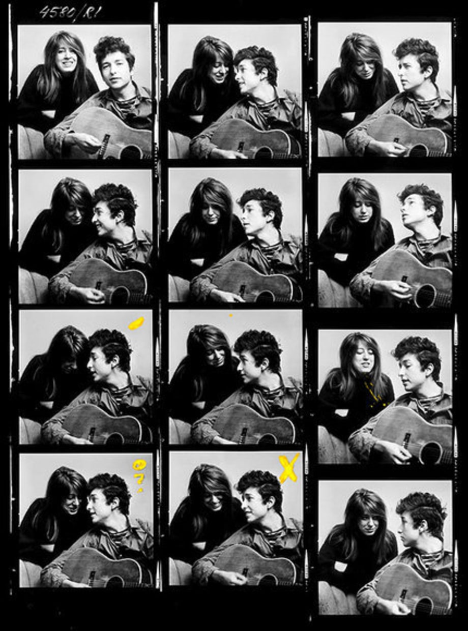 Don Hunstein: Bob Dylan and 1963 contact sheet