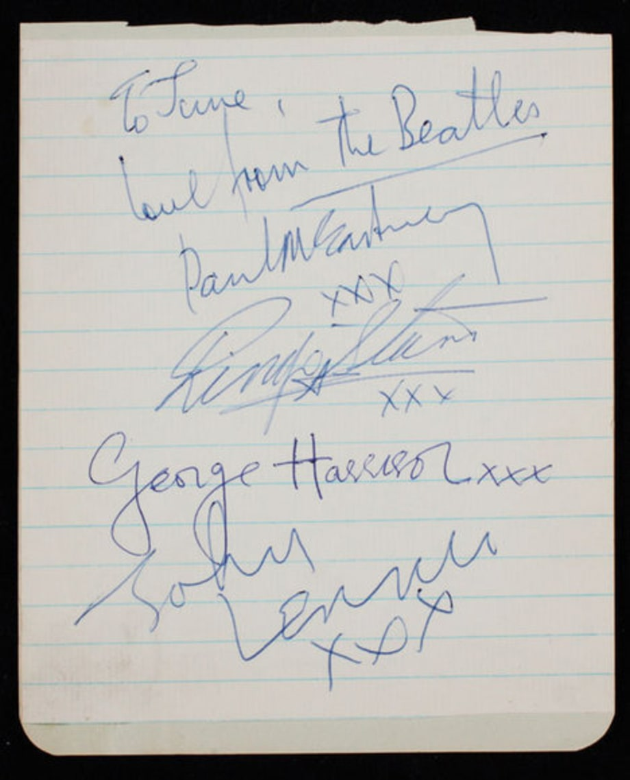 ROCK ICON AUCTION: Beatles Signatures