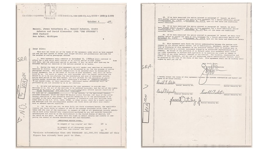 Stooges' Contract