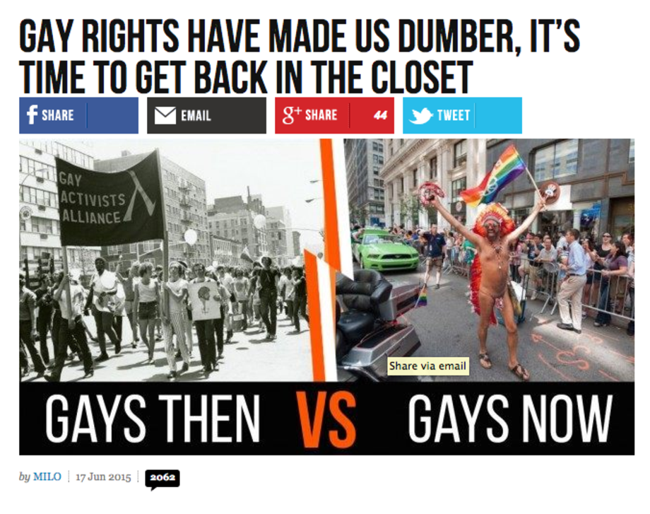 Garrison pretended to be gay in order to rob